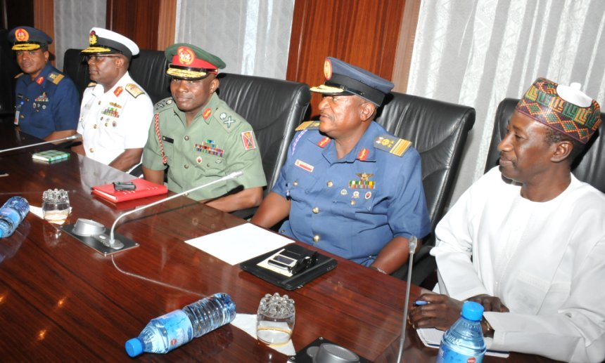 new service chiefs meet with President Buhari