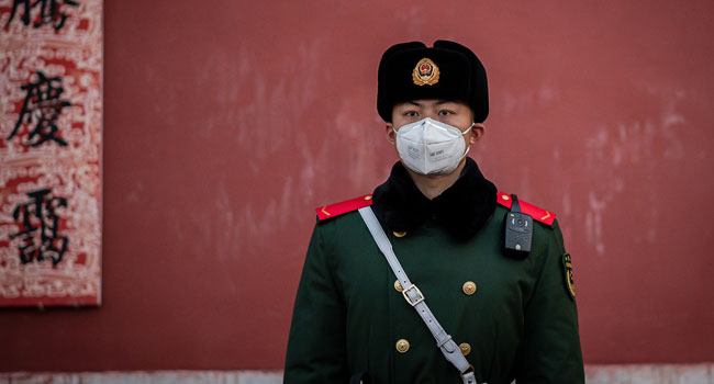 China-Virus-Police